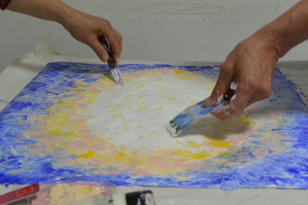 Peinture lumineuse, atelier