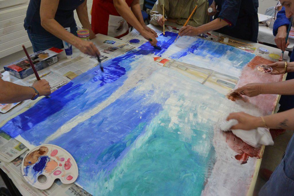 Phare en peinture collective