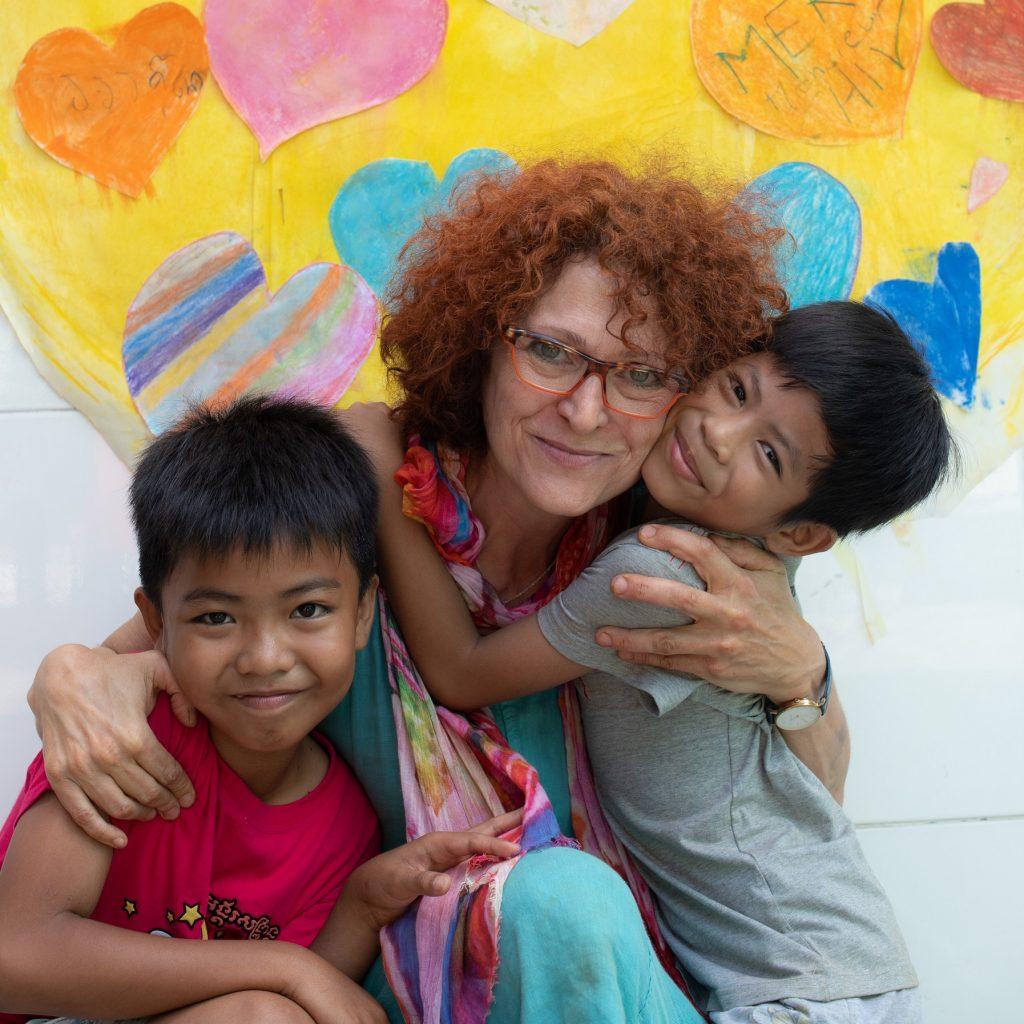 Andrée Valinejad au Cambodge en situation humanitaire